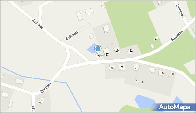 Robakowo, Ziemska, 15, mapa Robakowo