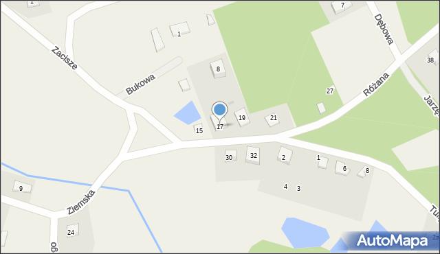 Robakowo, Ziemska, 17, mapa Robakowo