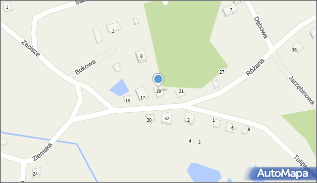 Robakowo, Ziemska, 19, mapa Robakowo