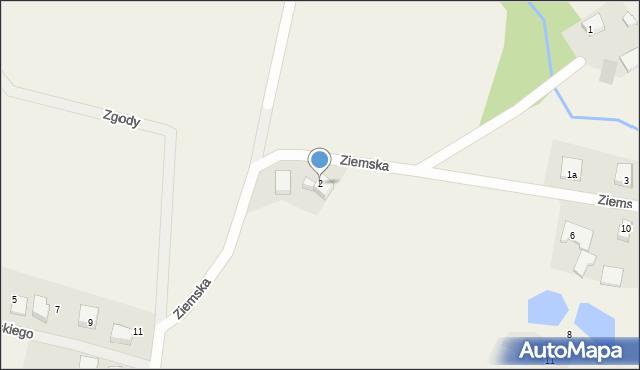 Robakowo, Ziemska, 2, mapa Robakowo