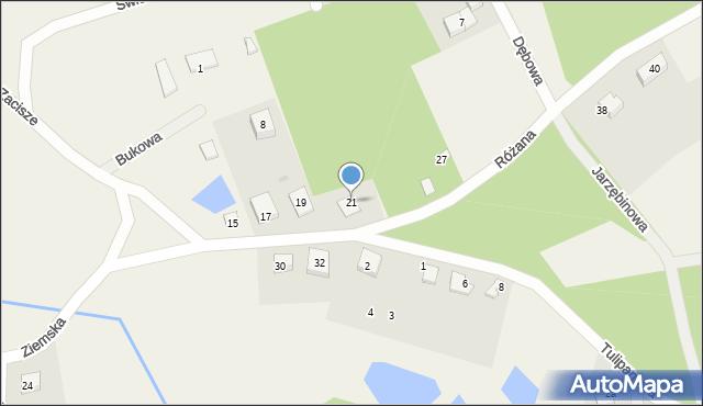 Robakowo, Ziemska, 21, mapa Robakowo