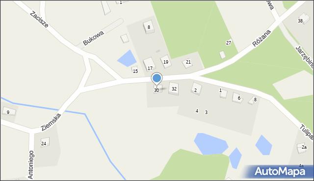 Robakowo, Ziemska, 30, mapa Robakowo