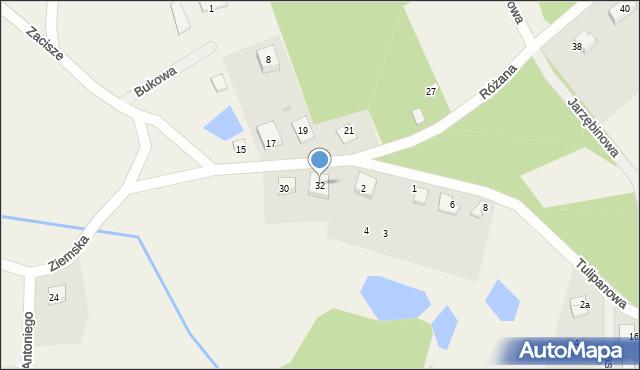 Robakowo, Ziemska, 32, mapa Robakowo
