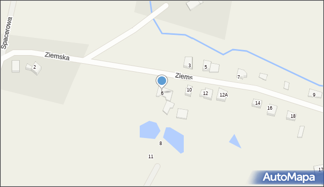 Robakowo, Ziemska, 6, mapa Robakowo
