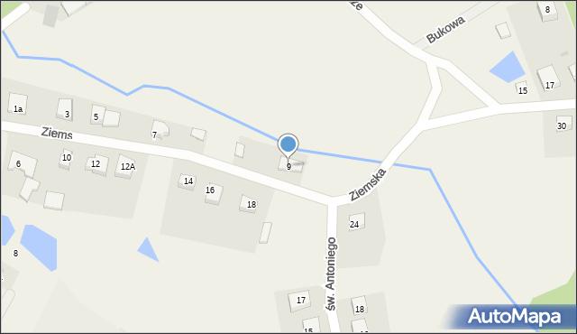 Robakowo, Ziemska, 9, mapa Robakowo