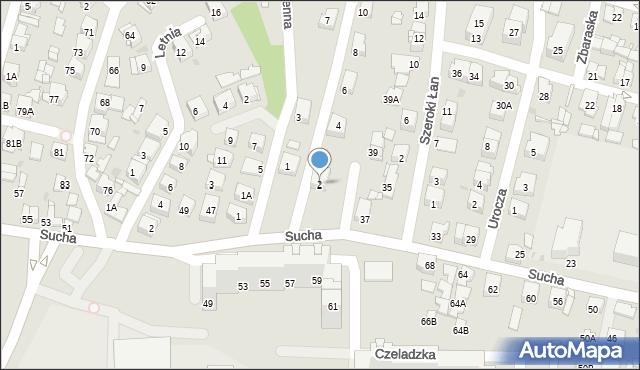 Sosnowiec, Zimowa, 2, mapa Sosnowca