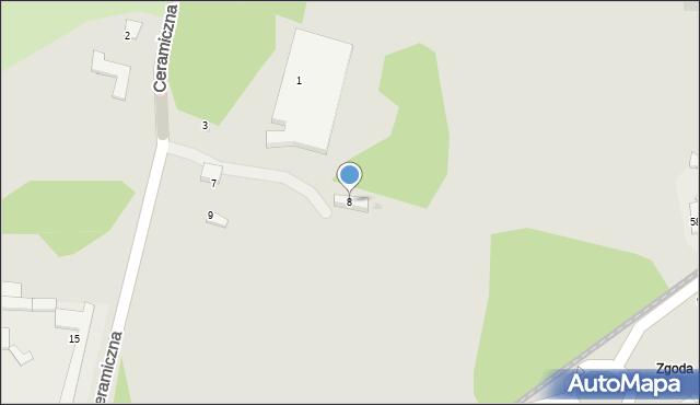 Świętochłowice, Zielona, 8, mapa Świętochłowice