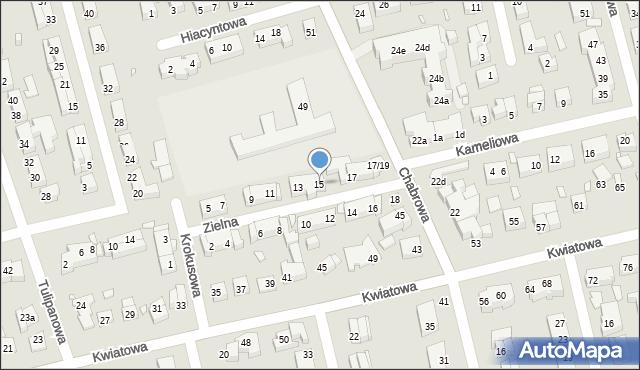 Toruń, Zielna, 15, mapa Torunia
