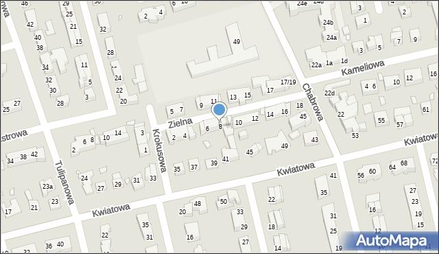 Toruń, Zielna, 8, mapa Torunia