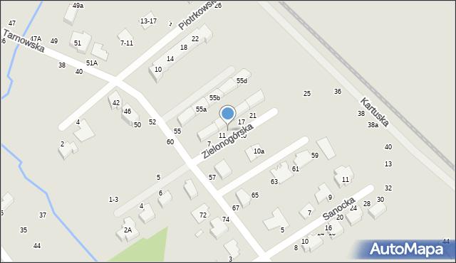 Toruń, Zielonogórska, 13, mapa Torunia