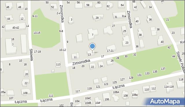 Toruń, Zimorodka, 15, mapa Torunia