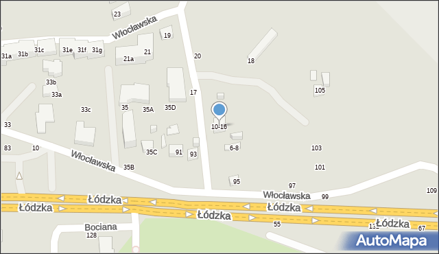 Toruń, Zimowa, 10-16, mapa Torunia