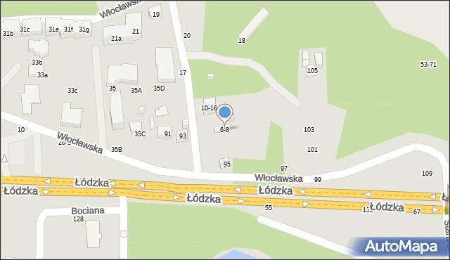 Toruń, Zimowa, 6-8, mapa Torunia