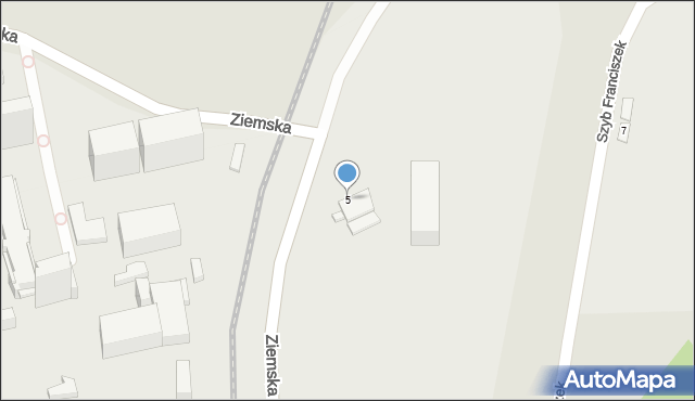 Zabrze, Ziemska, 5, mapa Zabrza