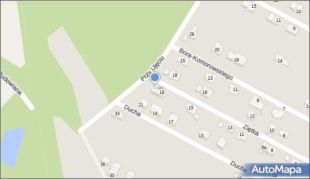 Zabrze, Ziętka Jerzego, gen., 21, mapa Zabrza