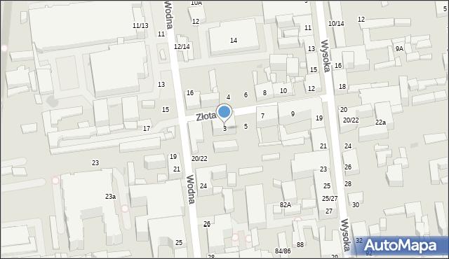 Łódź, Złota, 3, mapa Łodzi