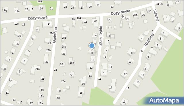 Toruń, Złotej Rybki, 8, mapa Torunia