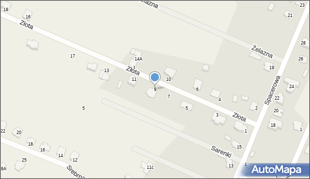 Wacyn, Złota, 9, mapa Wacyn