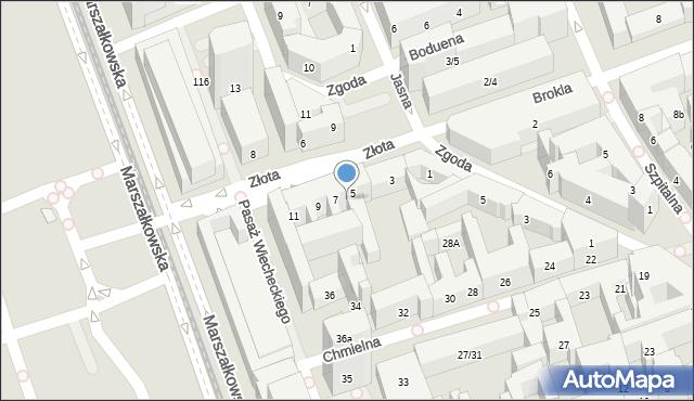 Warszawa, Złota, 9/15, mapa Warszawy