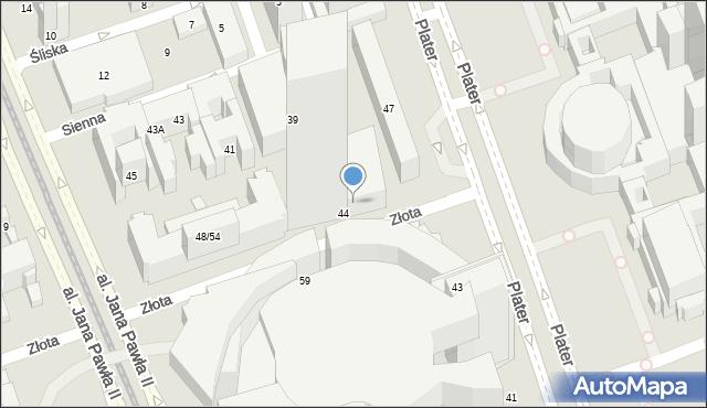 Warszawa, Złota, 44/46, mapa Warszawy