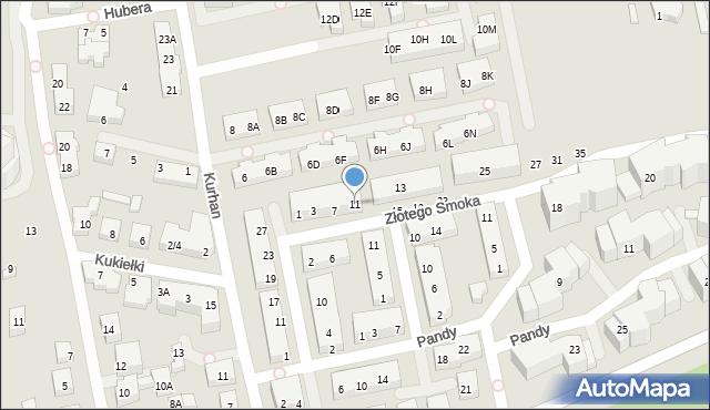 Warszawa, Złotego Smoka, 11, mapa Warszawy