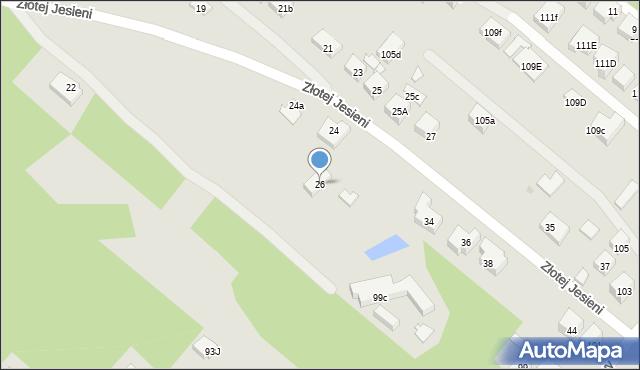 Warszawa, Złotej Jesieni, 26, mapa Warszawy