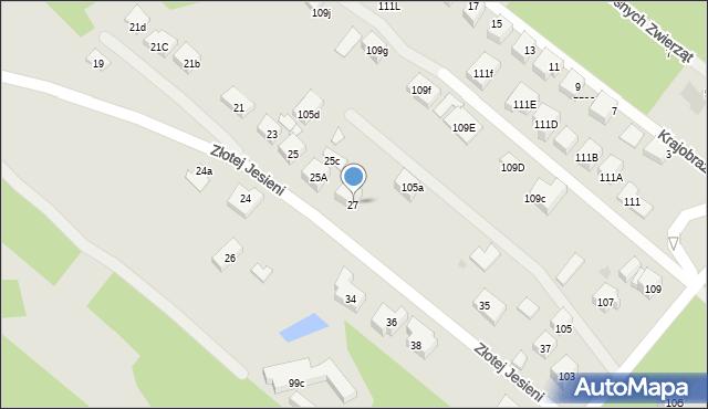 Warszawa, Złotej Jesieni, 27, mapa Warszawy