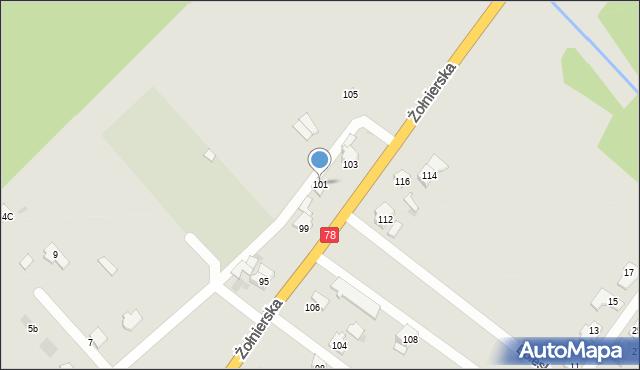 Bytom, Żołnierska, 101, mapa Bytomia