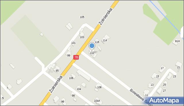 Bytom, Żołnierska, 112, mapa Bytomia