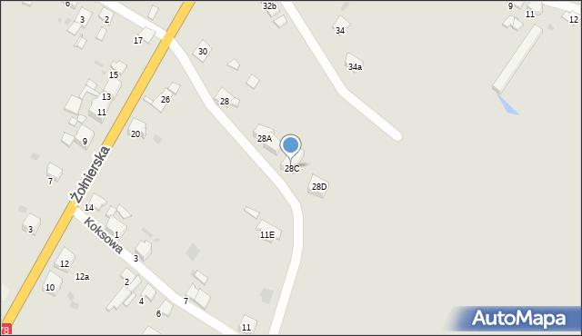 Bytom, Żołnierska, 28C, mapa Bytomia