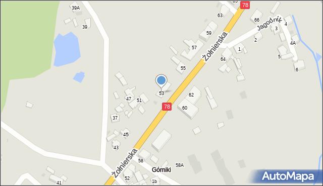 Bytom, Żołnierska, 53, mapa Bytomia