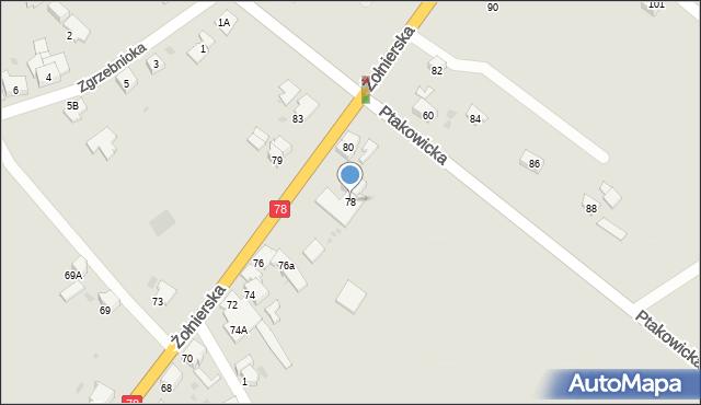 Bytom, Żołnierska, 78, mapa Bytomia