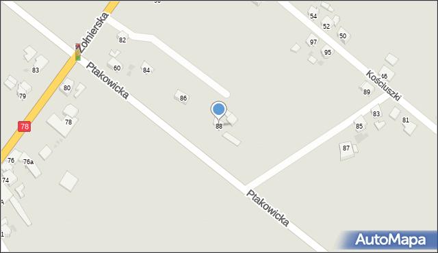 Bytom, Żołnierska, 88, mapa Bytomia