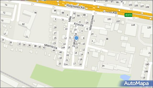 Chełm, Żołnierska, 11, mapa Chełma