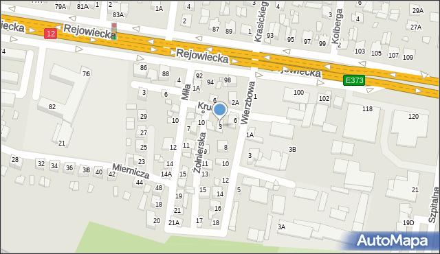 Chełm, Żołnierska, 3, mapa Chełma