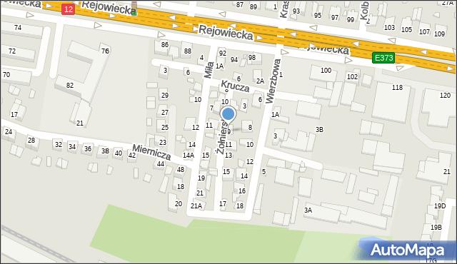 Chełm, Żołnierska, 9, mapa Chełma