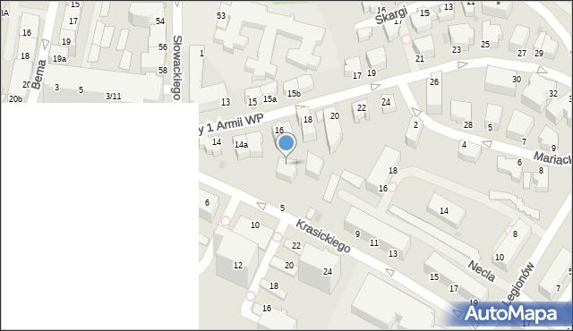 Gdynia, Żołnierzy 1 Armii Wojska Polskiego, 16A, mapa Gdyni