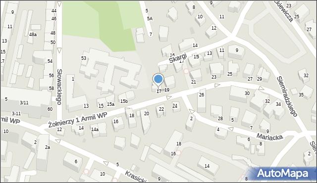 Gdynia, Żołnierzy 1 Armii Wojska Polskiego, 17, mapa Gdyni
