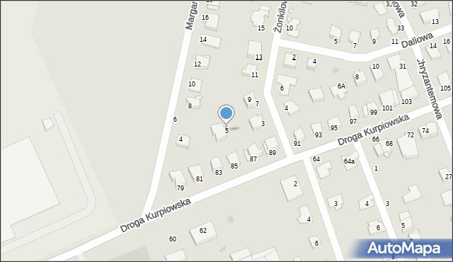 Grudziądz, Żonkilowa, 5, mapa Grudziądza