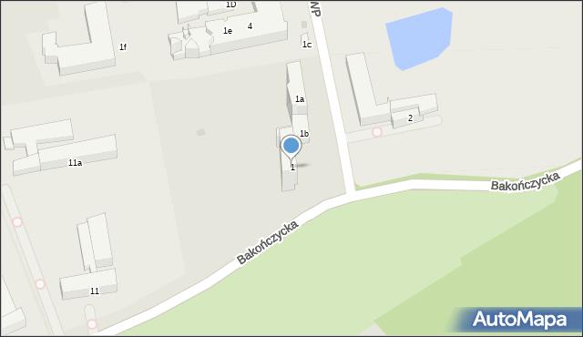Przemyśl, Żołnierzy 1 Armii Wojska Polskiego, 1, mapa Przemyśla