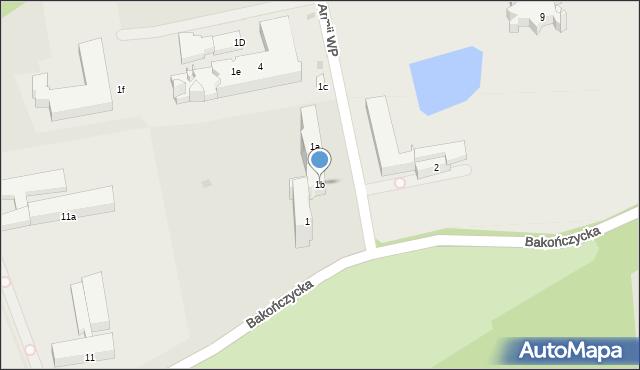 Przemyśl, Żołnierzy 1 Armii Wojska Polskiego, 1b, mapa Przemyśla