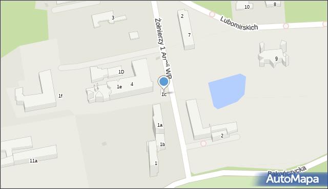 Przemyśl, Żołnierzy 1 Armii Wojska Polskiego, 1c, mapa Przemyśla