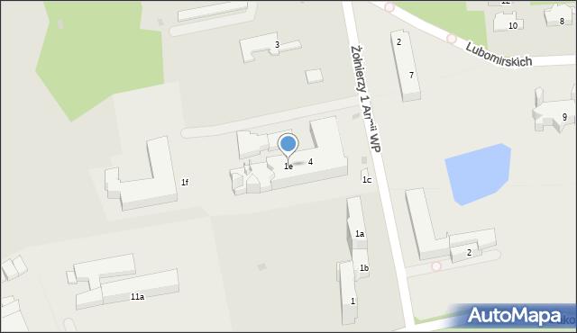 Przemyśl, Żołnierzy 1 Armii Wojska Polskiego, 1e, mapa Przemyśla