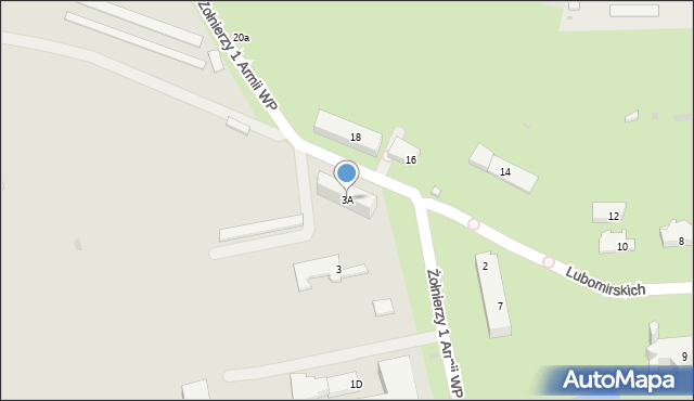 Przemyśl, Żołnierzy 1 Armii Wojska Polskiego, 3A, mapa Przemyśla