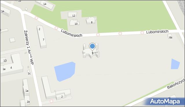 Przemyśl, Żołnierzy 1 Armii Wojska Polskiego, 9, mapa Przemyśla