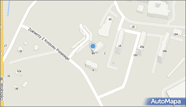 Przemyśl, Żołnierzy 2 Korpusu Polskiego, 9A, mapa Przemyśla