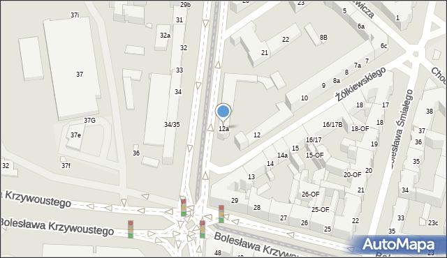 Szczecin, Żółkiewskiego Stanisława, hetm., 12a, mapa Szczecina