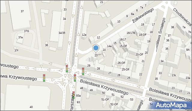 Szczecin, Żółkiewskiego Stanisława, hetm., 13, mapa Szczecina