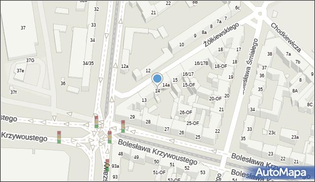 Szczecin, Żółkiewskiego Stanisława, hetm., 14, mapa Szczecina