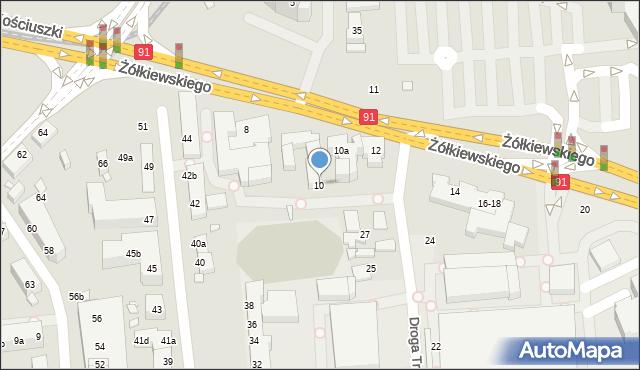 Toruń, Żółkiewskiego, 10, mapa Torunia